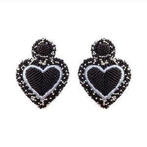 Anthropologie Olivia Dar Lrg heart heart earrings